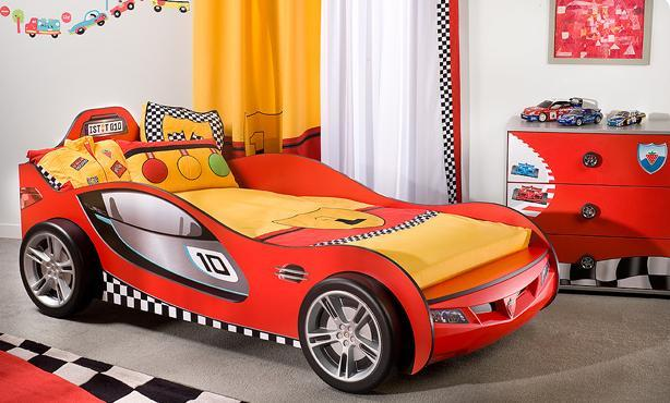 super fun racing car bed for your kid