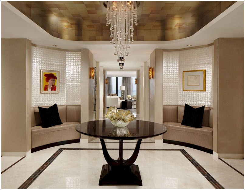 Foyer Decor Pleasing With Contemporary Round Foyer Tables Pictures