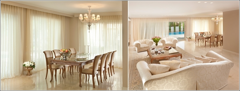 This Dining Room In Cream And Beige Tones Is Yet Another Royal Outlook That Part Of A Large Sitting Area