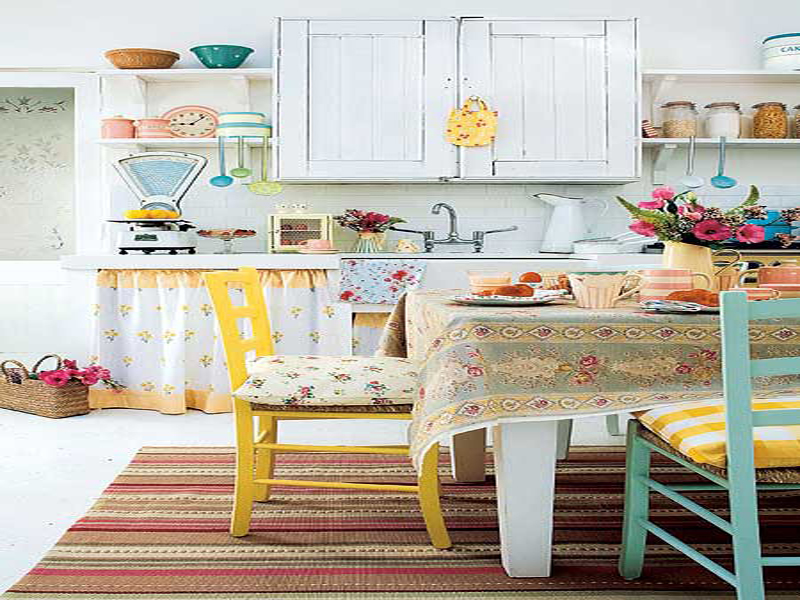 Colorful vintage kitchen designs for Kitchen design decorating ideas