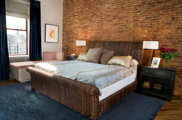 Classic Brick Wall Bedroom Design