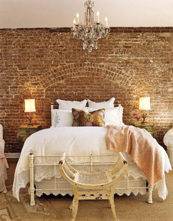 Bedroom brick wall design ideas for Bedroom w brick wall