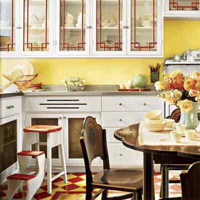 Colorful Vintage Kitchen Design