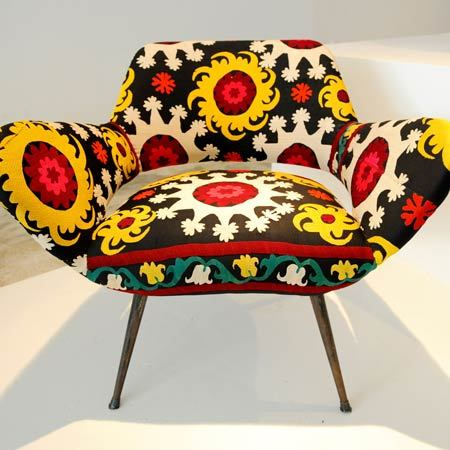 Creative Vintage Sunflowes armchair design