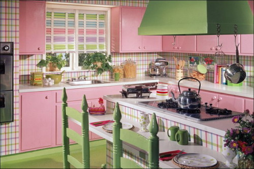 Colorful vintage kitchen designs for Classic style kitchen ideas