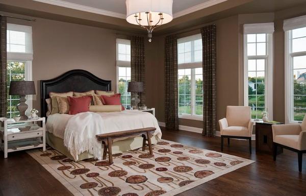 Elegant-Bedroom-Design-with- traditional rug