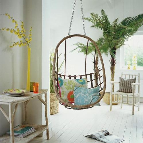 fit in to any room but would be ideal for a sunroom or kids room