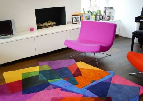 Modern Colorful Cubes Rugs