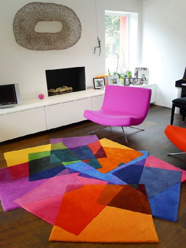 Contemporary rugs for your living room - Modern carpets for living room ...