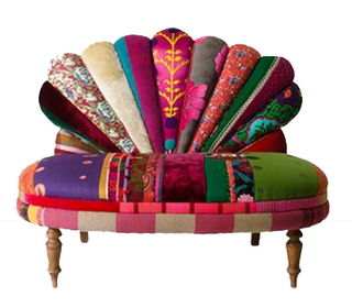 Vintage Fan Form Armchair Design