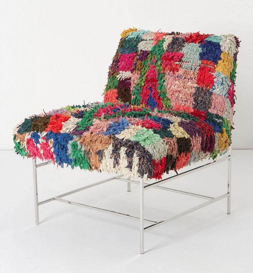 Vintage Moroccan rug  Armchair design
