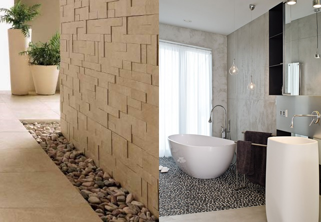 design your interior with pebbles