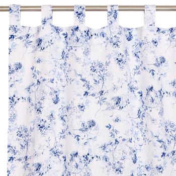 Blue flowery curtain via Zara Home