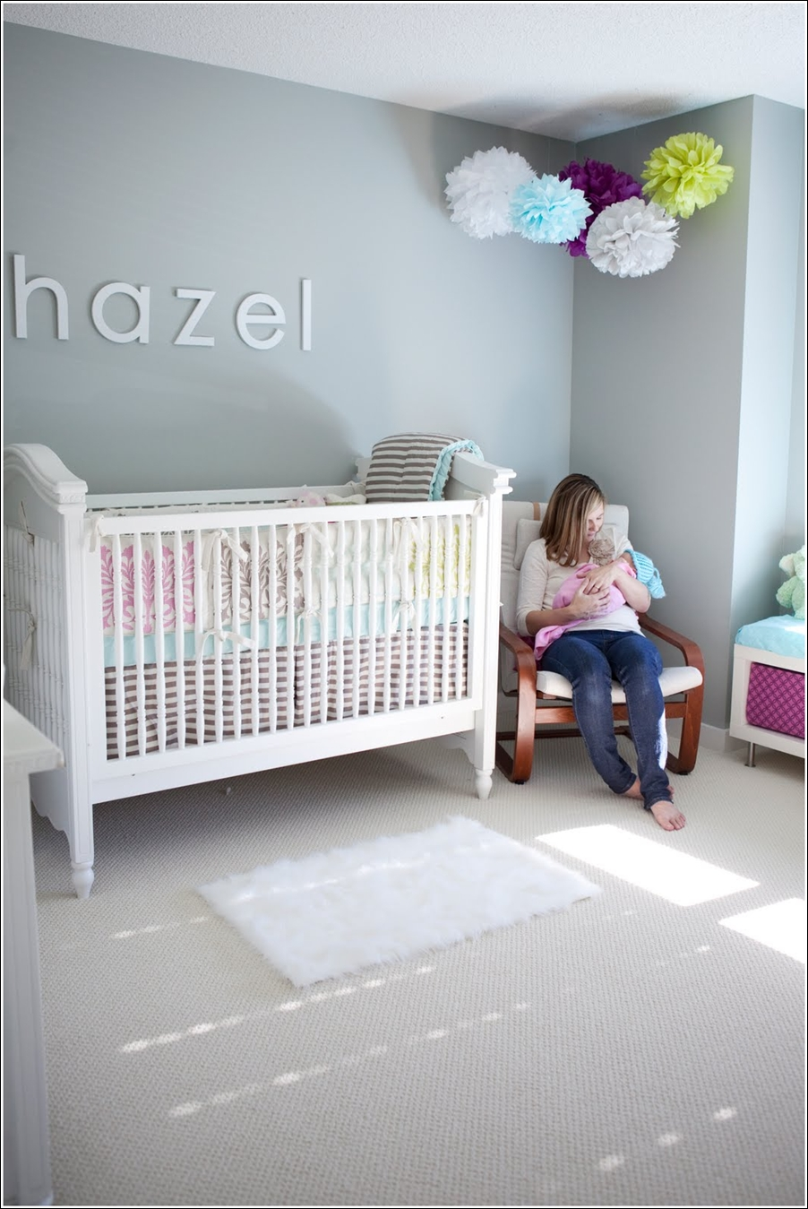 Decorate Your Darling Baby's Nursery with Pom Poms!