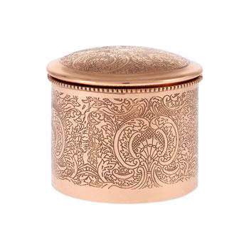 Engraved metal jar via Zara Home