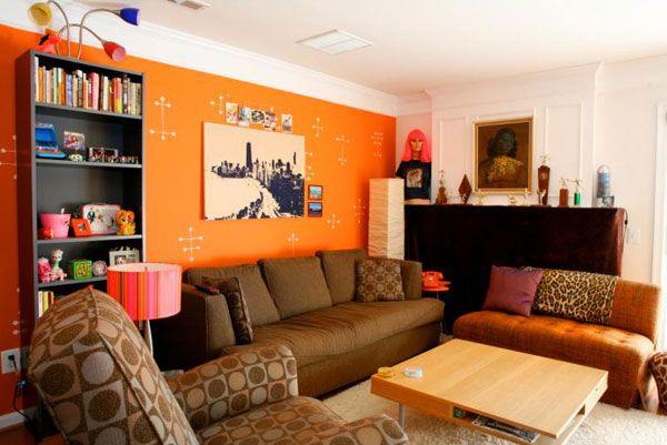Creative Orange Living Room Design