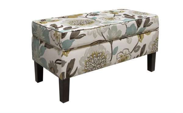 Gorgeous Floral Storage Bench