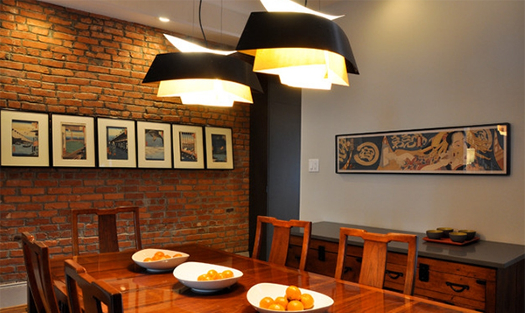Wall Design In Dining Room : Dazzling dining room designs with brick wall