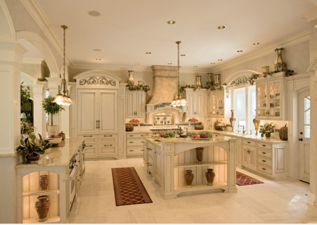 Amazing and elegant white kitchen designs for French chateau kitchen designs