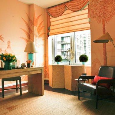 Romantic Orange Living Room