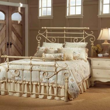 Royal White Wrough Iron Bed Design