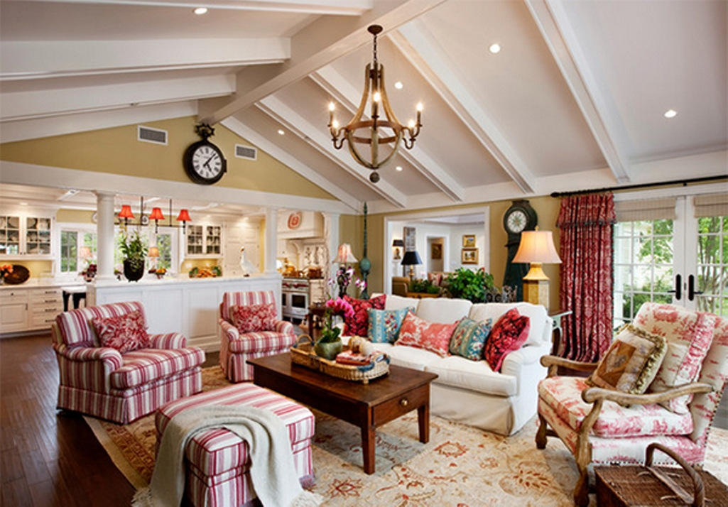 Eclectic living room ideas with country furniture for Country living room design ideas