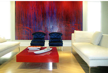 Oustanding Living Room Designs With Large Size Artwork Pieces