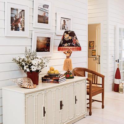White Wooden Coastal Hallway