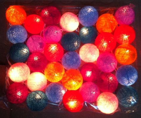 Cotton ball light via Etsy