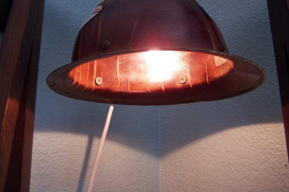 Hard hat light via Etsy