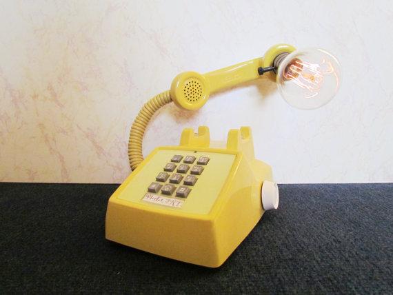 Phone lamp via Etsy
