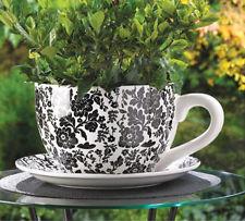 Big teacup flower pot - via ebay.com