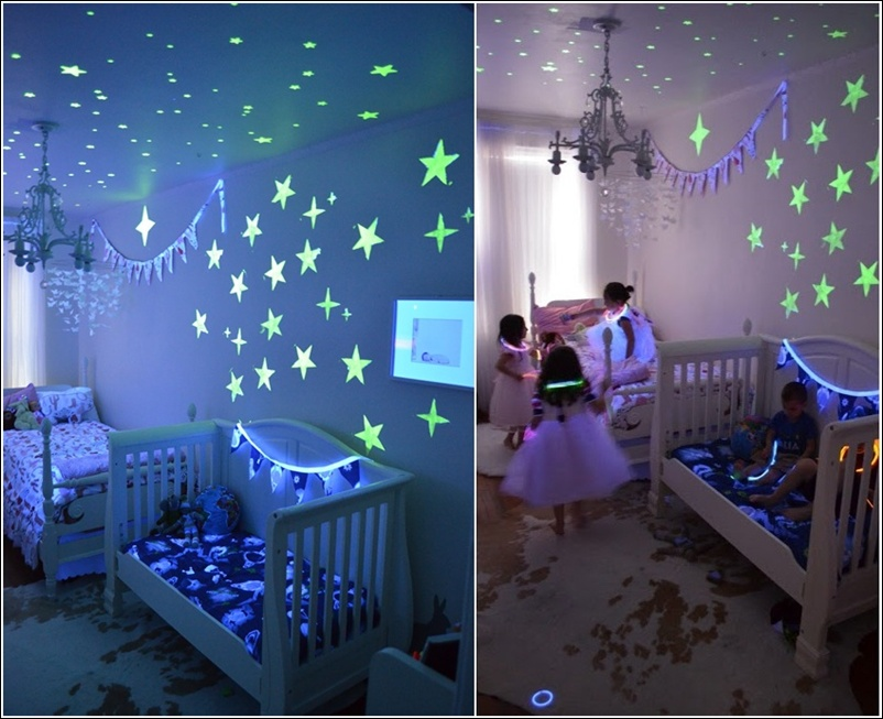 Glow in the dark decals for walls