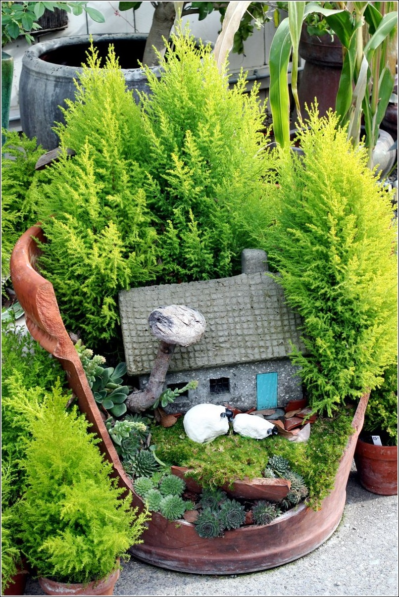 Enchanted miniature fairy gardens with houses where Small garden fairies