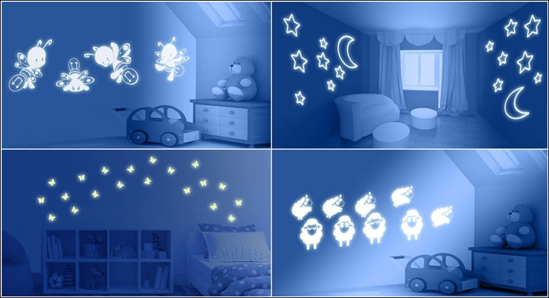 glow in the dark paint for wallsGlow in the Dark Paint and Decals for Your Childs Room