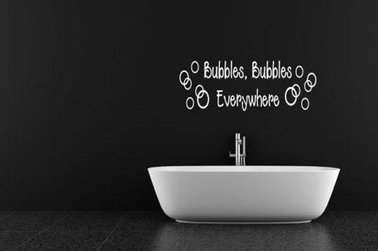 Adorable Bathrom Wall Sticker Design