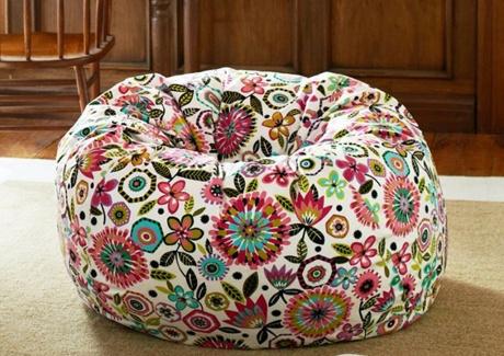 Birght Floral Bean Bag Design