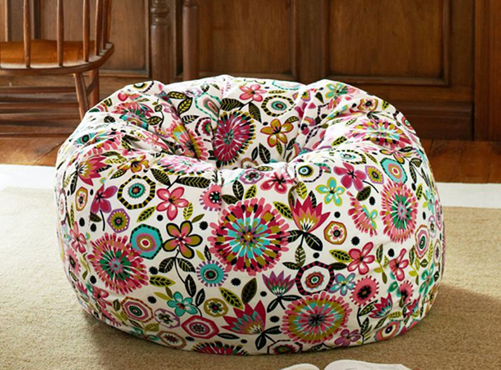 Creative And Colorful Printed Bean Bag Chairs