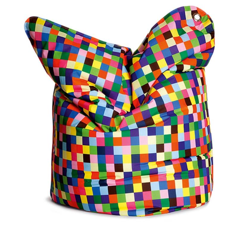 Colorful Pixels Bean Bag Design