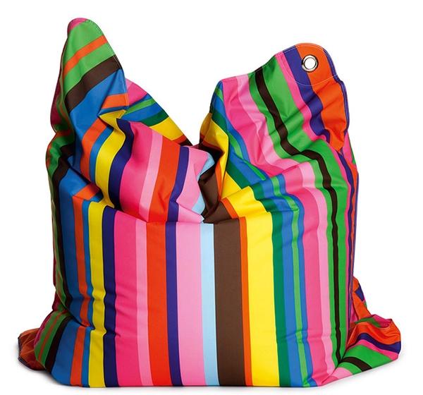 Colorful Stripes Bean Bag Design