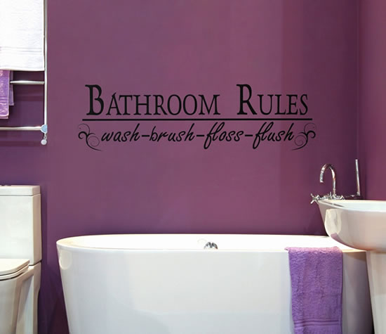 Creative and fun bathroom quote wall stickers for Bathroom design quotes