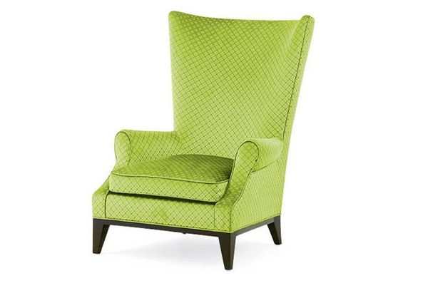 Eclectic Green WIngback chair