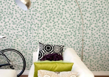Elegant and bright living room wallpaper design
