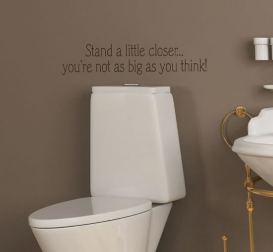 Creative and Fun Bathroom quote wall stickers – Bathroom Fun