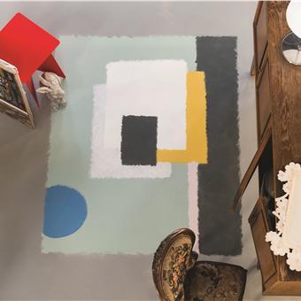 Carpet-like floor paint via Farrow&Ball