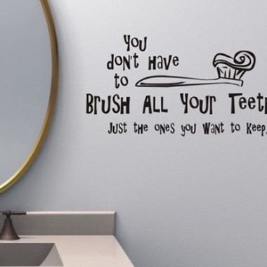 Smart Bathroom Wall Sticker Design