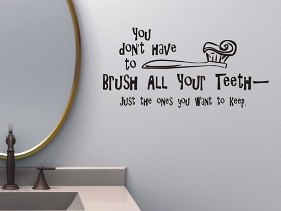 creative and fun bathroom quote wall stickers rh amazinginteriordesign com Funny Quotes for Bedroom Walls Funny Bathroom Signs Printable