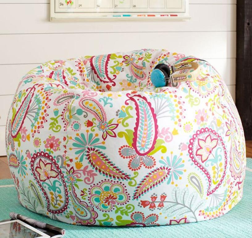 Swirly Colorful Bean Bag Design