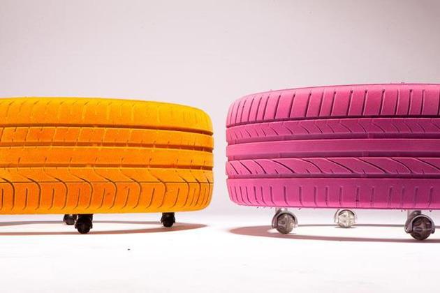 Tire tables via Tavomatico