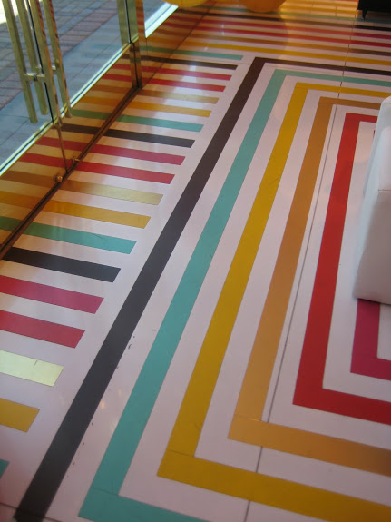 Tape floor via Rebecca June